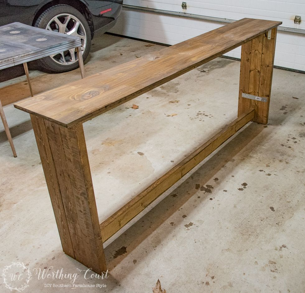 One More Problem Solved In My Family Room How To Build A Farmhouse Sofa Table Diy Sofa Table Farmhouse Sofa Table Rustic Sofa Tables