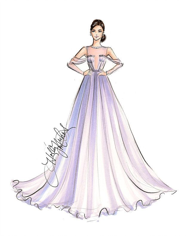 Demi Lovato Red Carpet Peach dress by royalsehana on ... |Red Carpet Dresses Drawings
