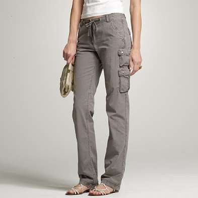 The Linen Cargo Pant in Earl Gray by Gold Hawk at CoutureCandy.com ...