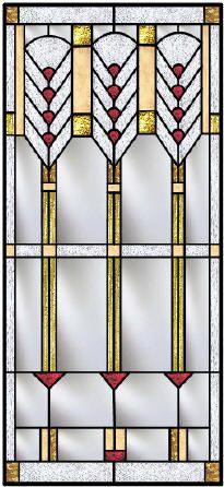Frank Lloyd Wright Inspired Custom Stained Glass Windows