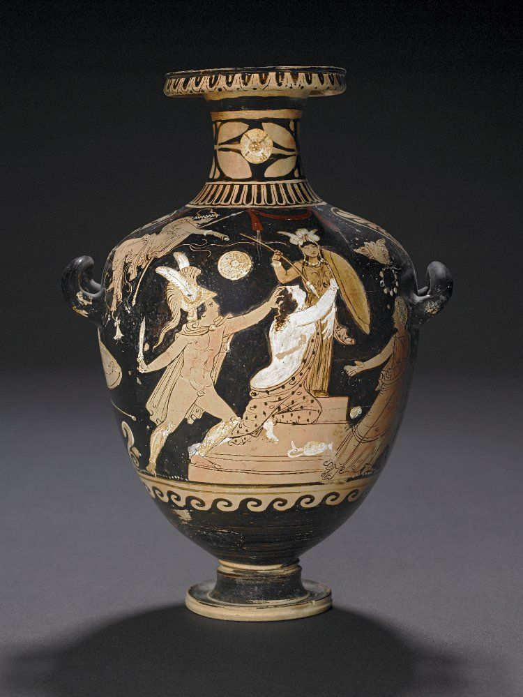 Pottery: red-figured hydria: the Sack of Troy; the rape of Kassandra by the…