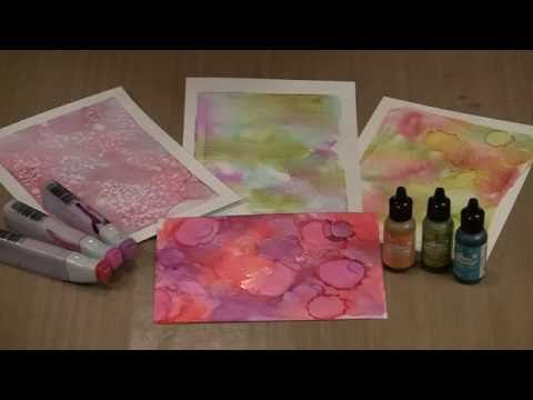 Studies In The Weird Gel Press Alcohol Inks Handsanitizer