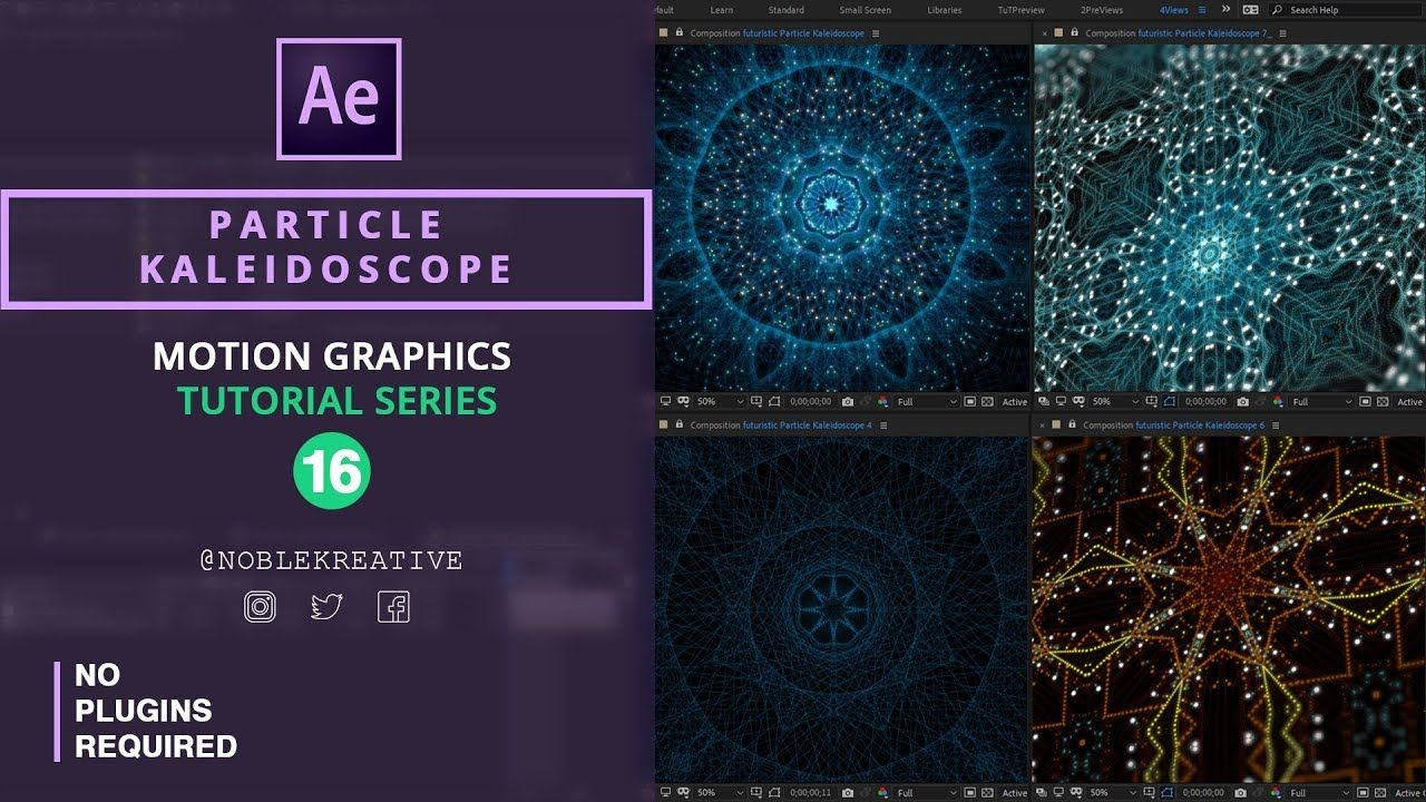 Particle Kaleidoscope In After Effects No Plugins Required