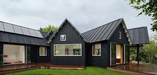 Identity and integration modern village house Denmark Barn House