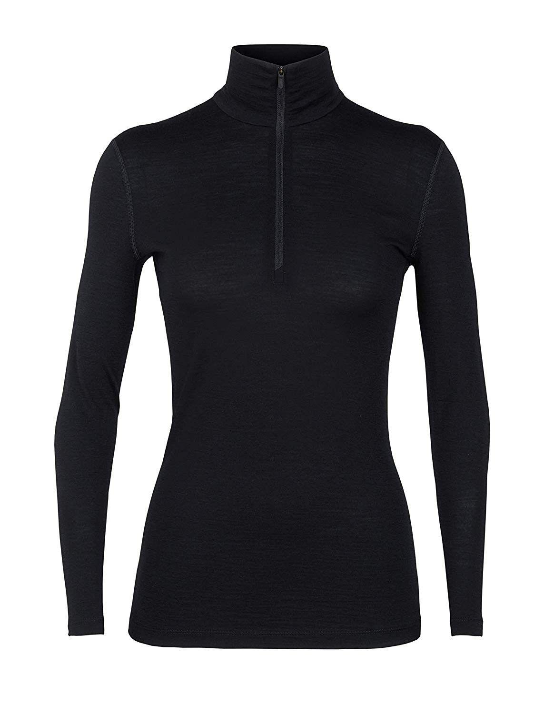 Women's WMNS 200 Oasis Ls Half Zip - Black - XS - C3189X897K0 - Sports & Fitness Clothing, Women, Ba...