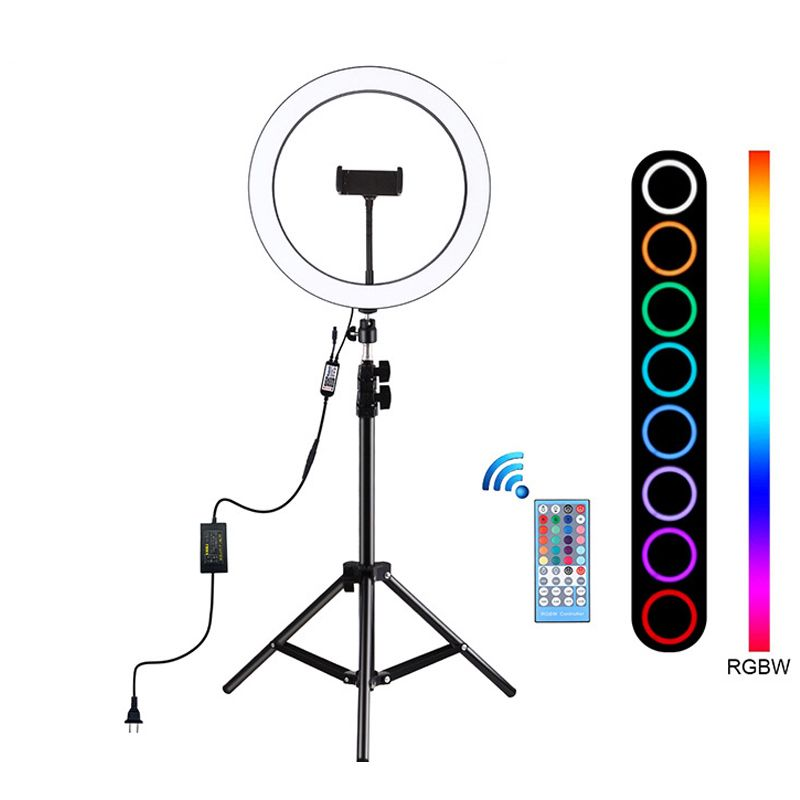Selfie Ring Light Rgb Video Ring Light With Tripod For Vlog Tiktok Deal In 2020 Led Selfie Ring Light Selfie Ring Light Led Ring