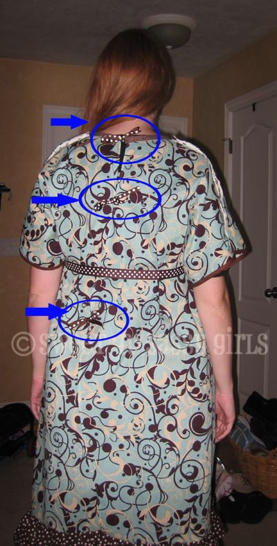 How to make a hospital gown. remember for Nae: the back ties come ...