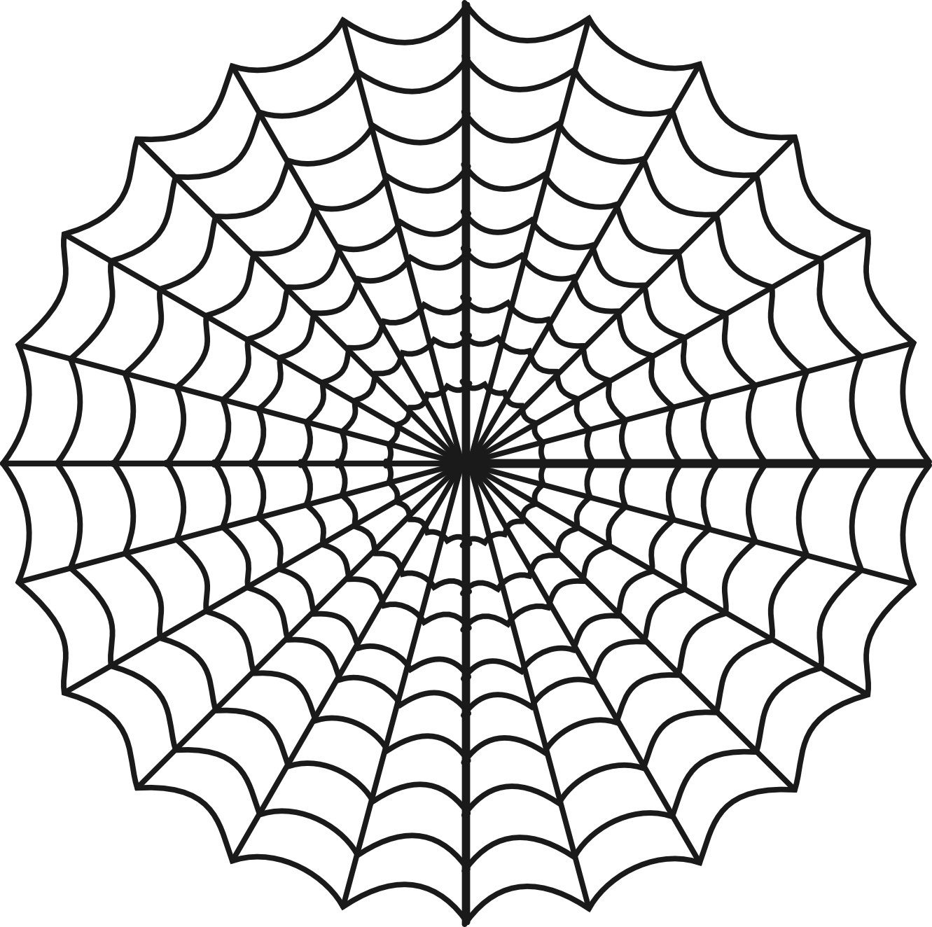 Free Printable Spider Web Coloring Pages For Kids Geometric