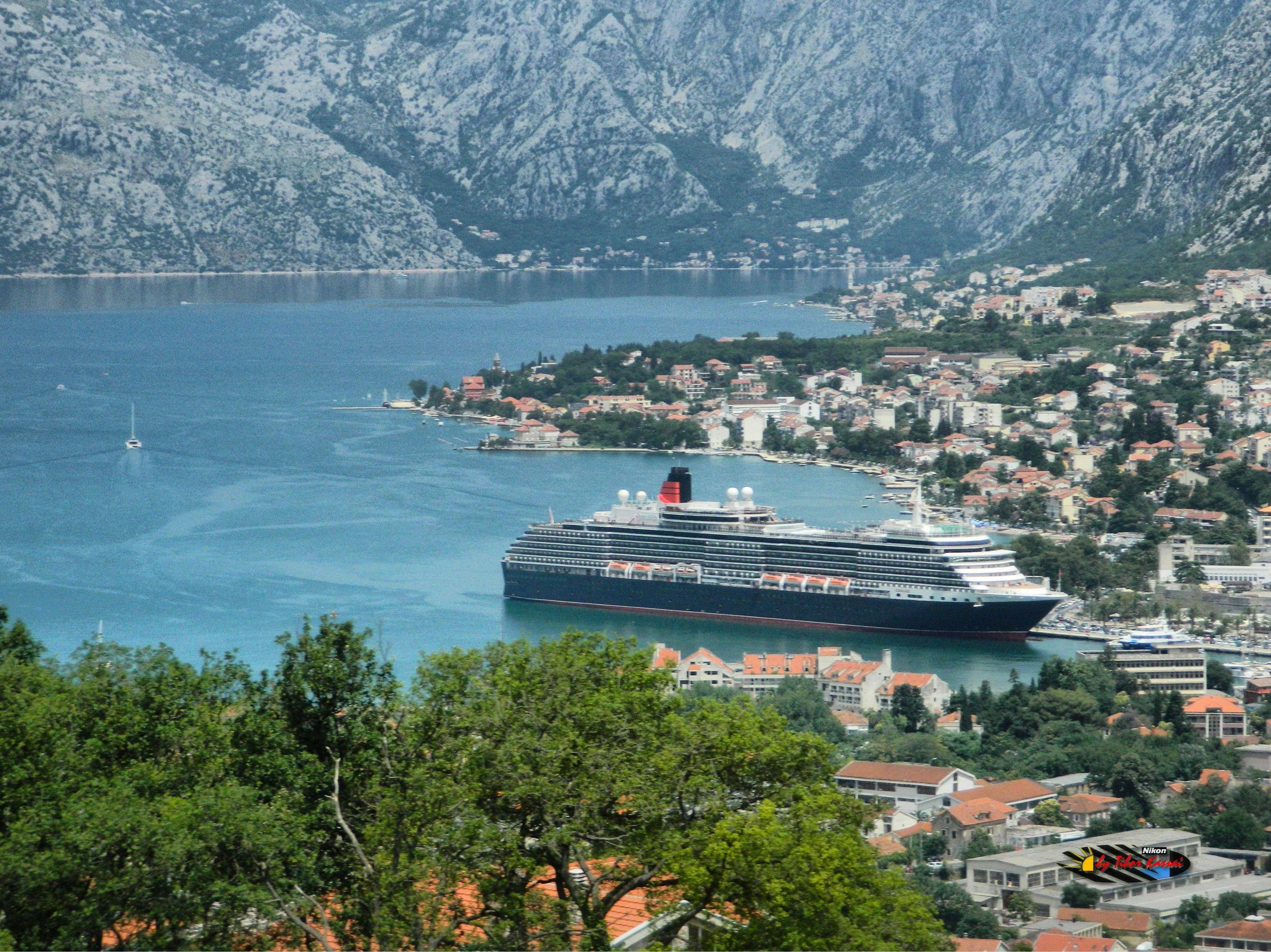 Queen Victoria Cruise Ship Bay Of Kotor Montenegro Nikon - Tracking queen victoria cruise ship