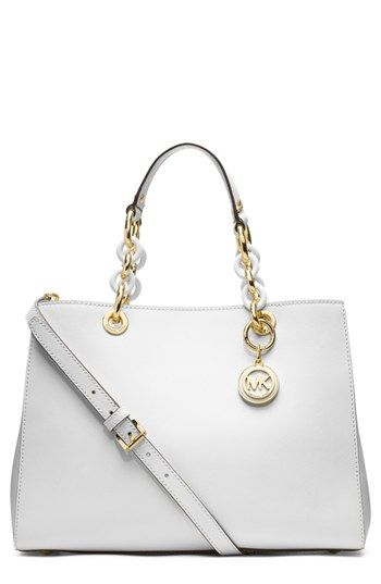 cf0b67bd6265 MICHAEL Michael Kors 'Cynthia' Saffiano Leather Satchel available at # Nordstrom