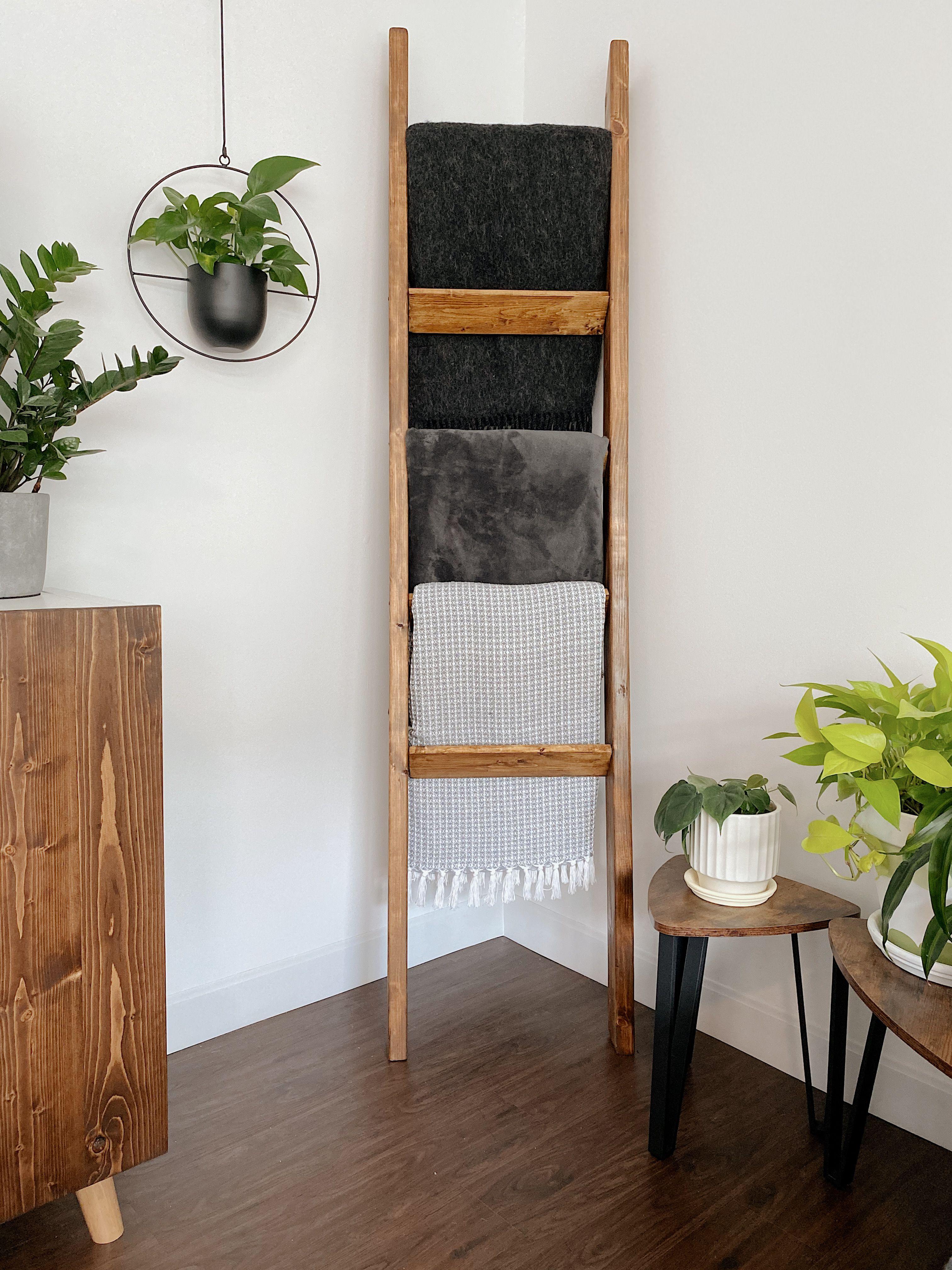 DIY Blanket Ladder in 2020 Home decor dyi, Blanket