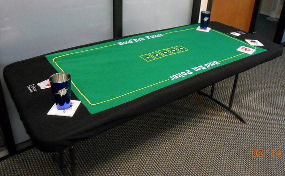 Custom Fit Personalized Embroidered Poker Table Top  by PremierTableCovers