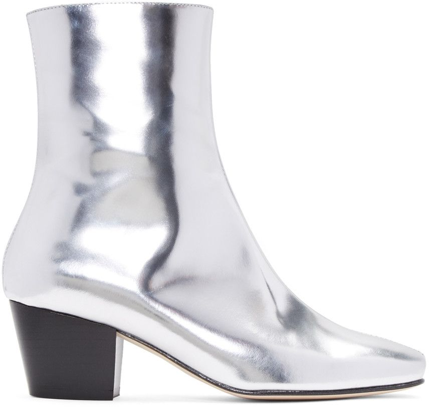 eef3691c1 DORATEYMUR Silver Droop Nose Boots.  dorateymur  shoes  boots ...