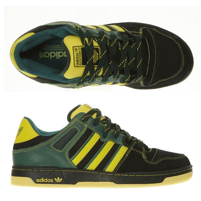 best website 45d19 2c659 adidas-bucktown-st-homme-noir-vert-jaune