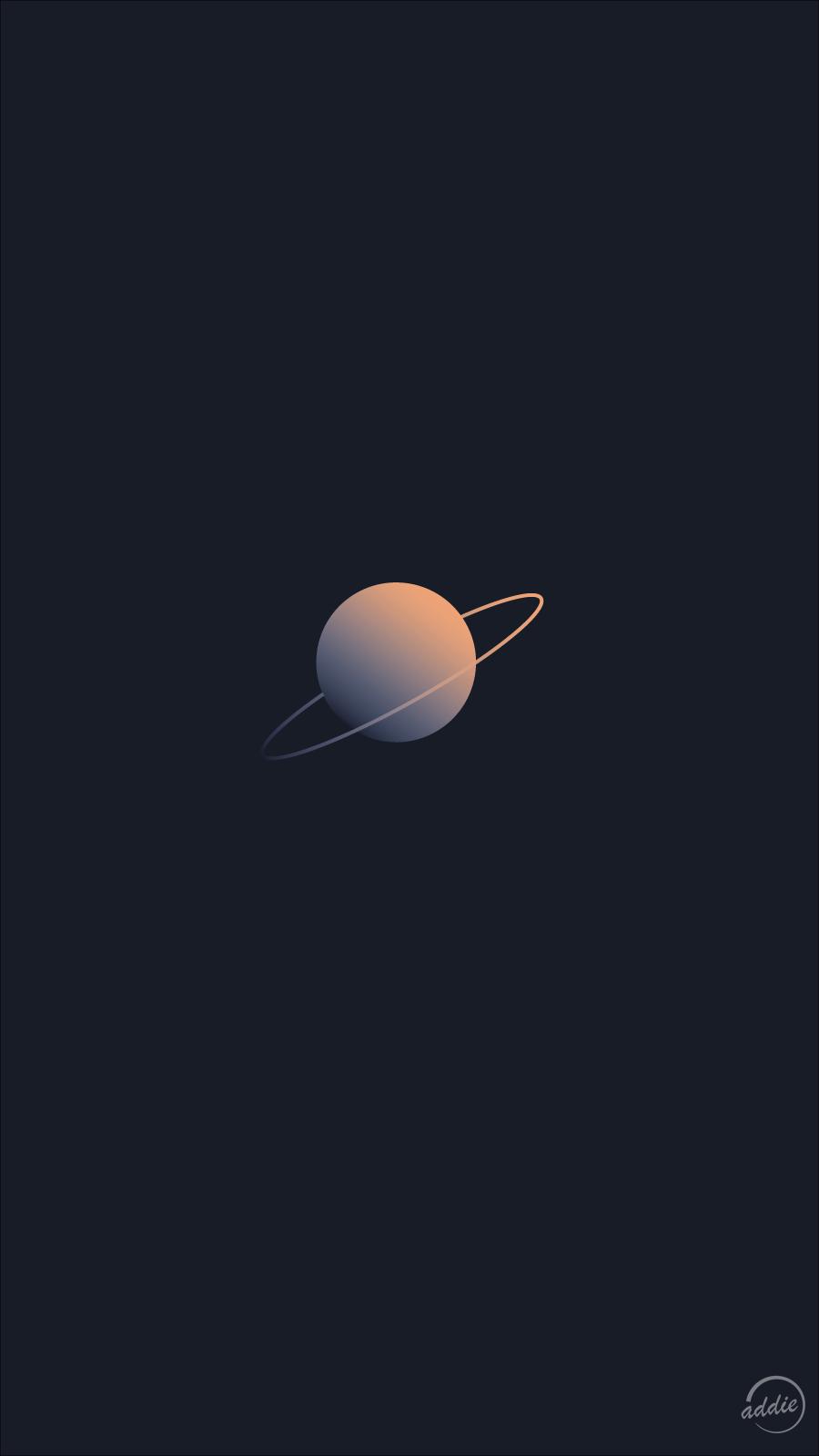 Minimal Saturn Phone Wallpaper