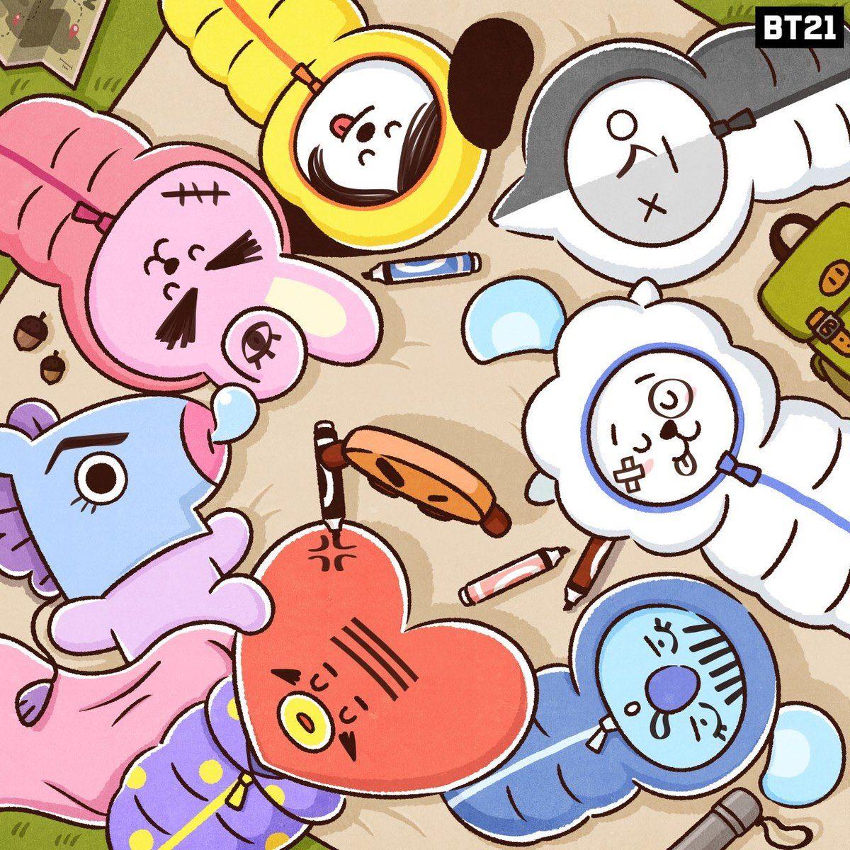 Bt21 On Twitter Line Friends Bts Wallpaper Bts Drawings