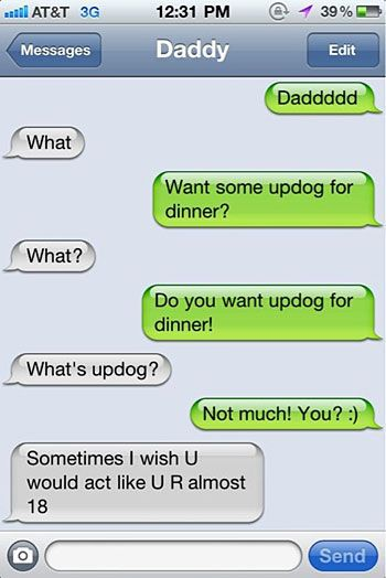 Funny Iphone Conversation Text Message Dad Laughter Is The Best