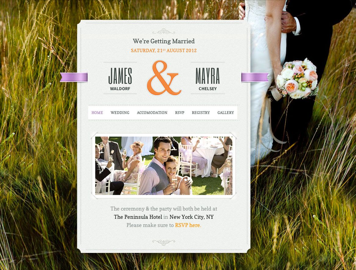Exemple-site-web-de-mariage-just-married | Projets à essayer | Pinterest