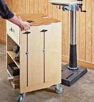 Drill Press Cabinet - Could consider mounting bench height drill ...