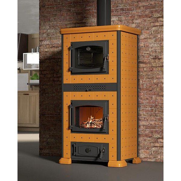po le bois avec four dessus et foyer en fonte de fabrication italienne cotes et flanc en. Black Bedroom Furniture Sets. Home Design Ideas