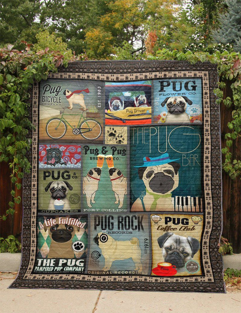 L1411 Pug 5121 Amelia Quilt Pugs Quilts Brewing Co