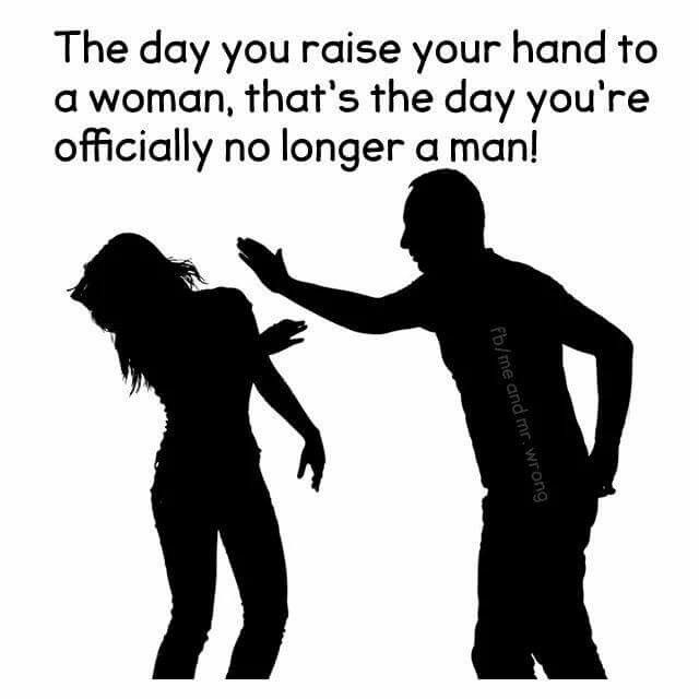 Never abuse your partner