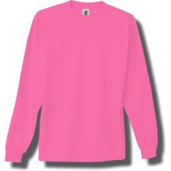 Adult #NEON Long Sleeve T-Shirt in #PINK (unisex/men's) long ...