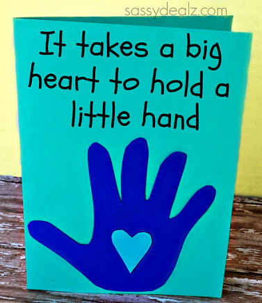 Meaningful Kid 39 S Handprint Father 39 S Day Card Kids S