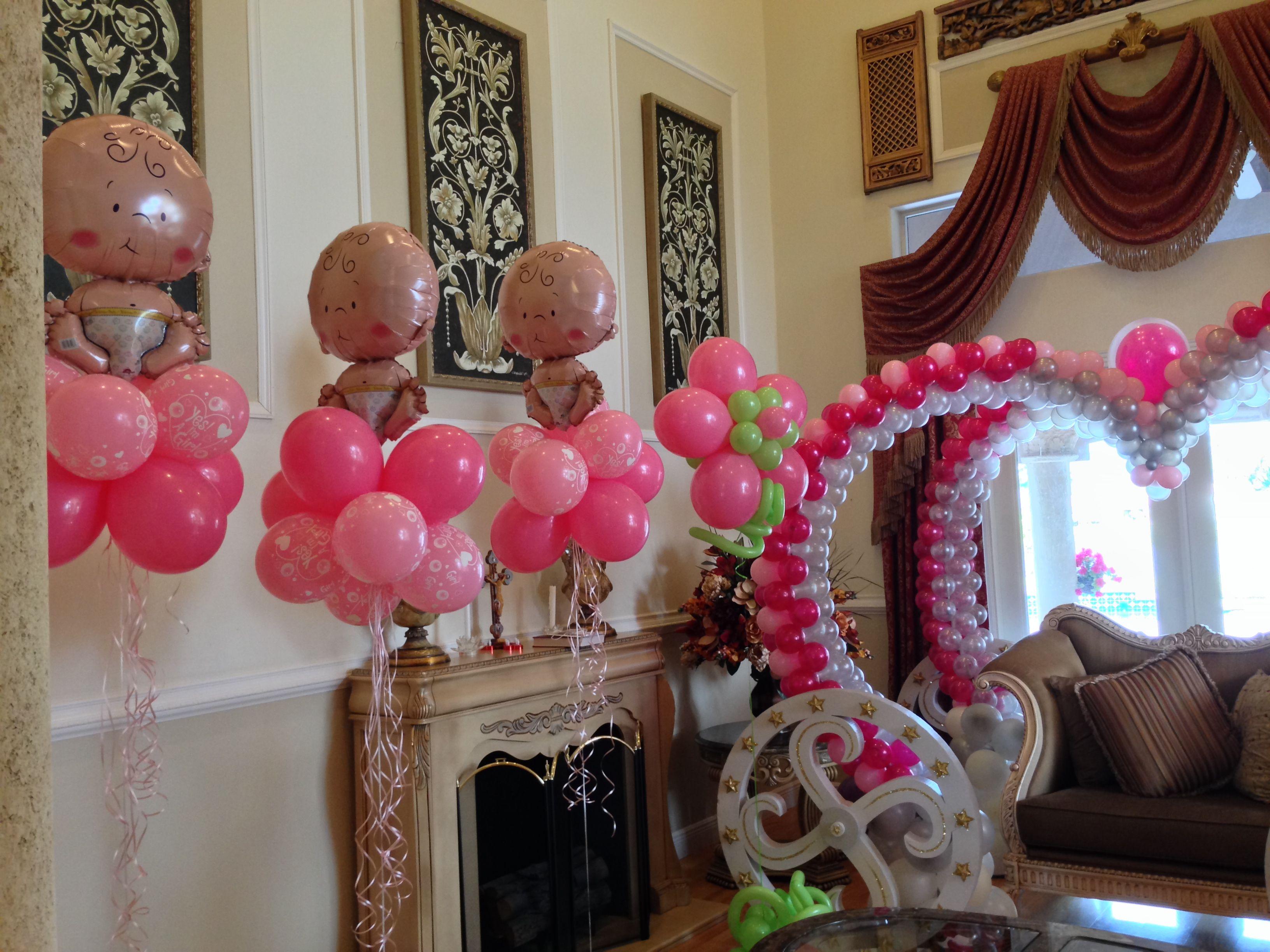 baby shower balloon centerpiece baby shower balloon decoration baby shower wicker chair chair