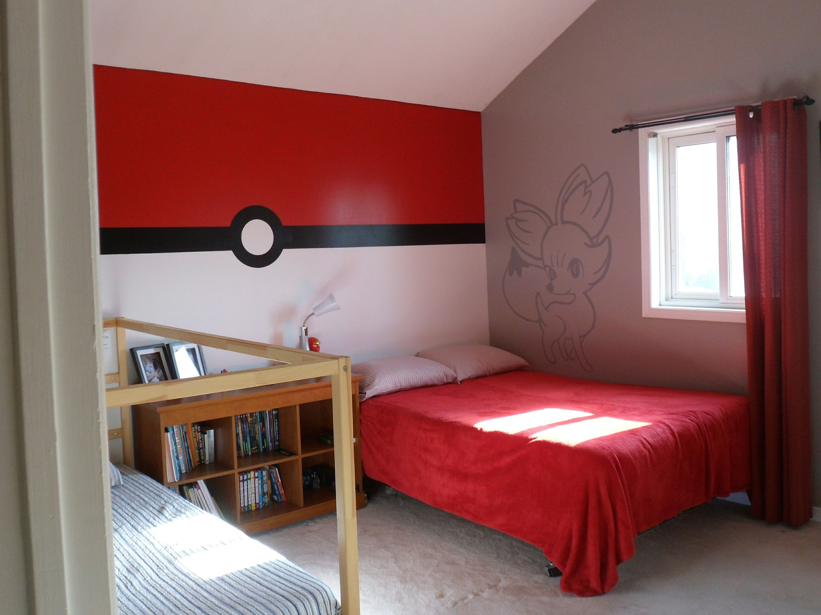 Bedroom Designs Outline pokemon bedroom - pokeball wall | pokemon bedroom | pinterest