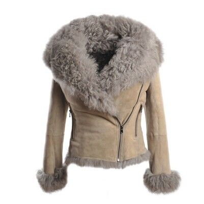 Women-Fashion-Winter-Genuine-Sheepskin-Shearling-Coat-Double-Faced ...