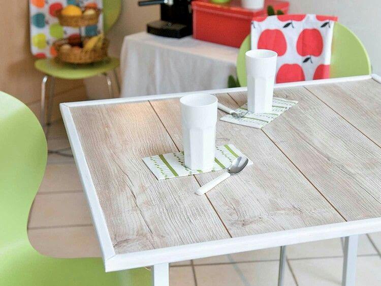 Diy table avec lames de parquet Idées pour la maison Pinterest