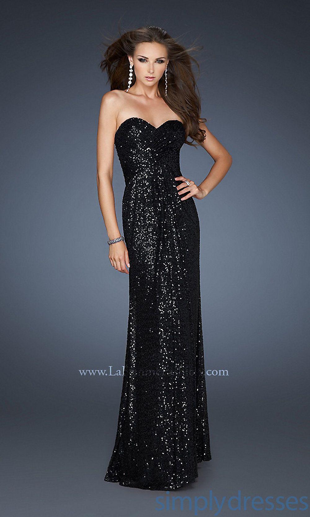 ae328e67d945 Dress, Floor Length Sequin Covered Strapless Dress - Simply Dresses ...