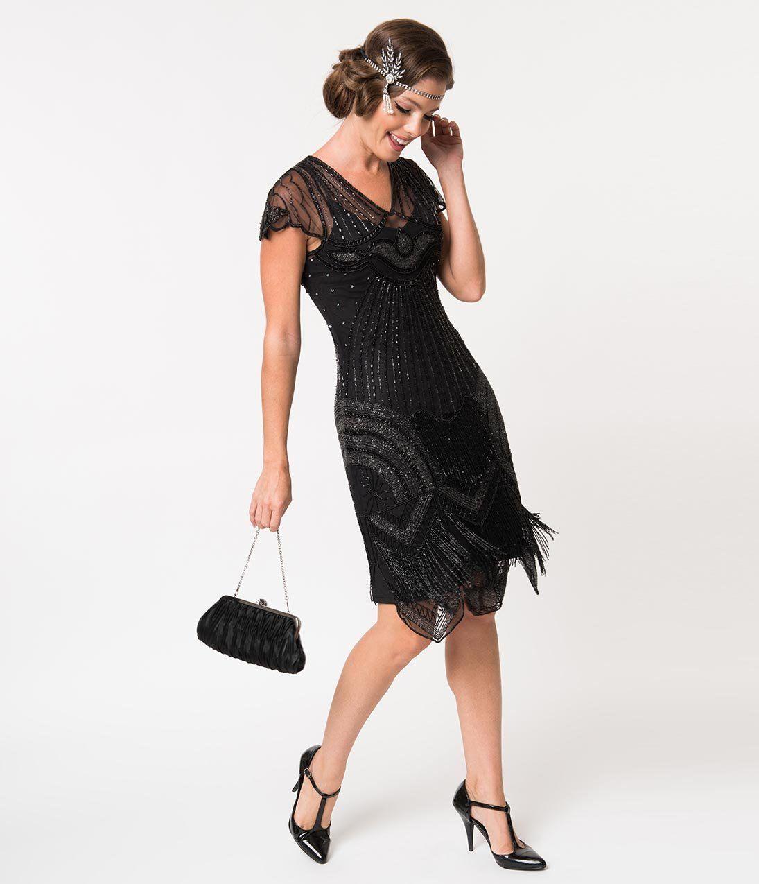 Flapper Dresses Quality Flapper Costumes 1920s Style Black Beaded Deco Cap Sleeve Beatrice Flapper Dress 1 1920s Fashion Dresses Flapper Dress 1920s Fashion [ 1275 x 1095 Pixel ]
