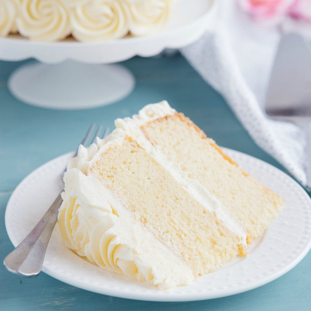 Tremendous Best Ever Vanilla Bean White Cake Recipe Cake Recipes Peach Funny Birthday Cards Online Overcheapnameinfo