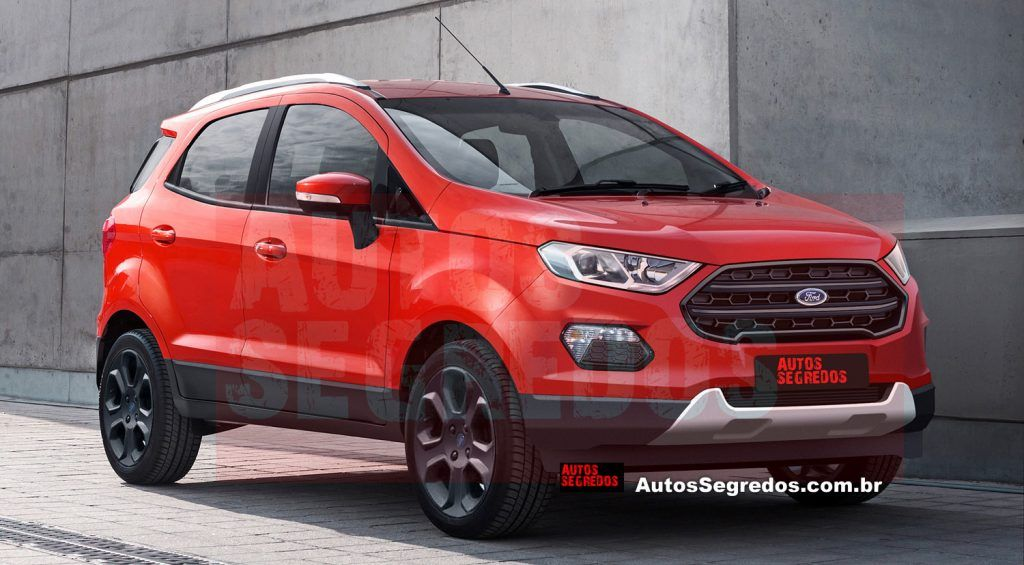 2017 Ford Ecosport Facelift Rendering By Autos Segredos With