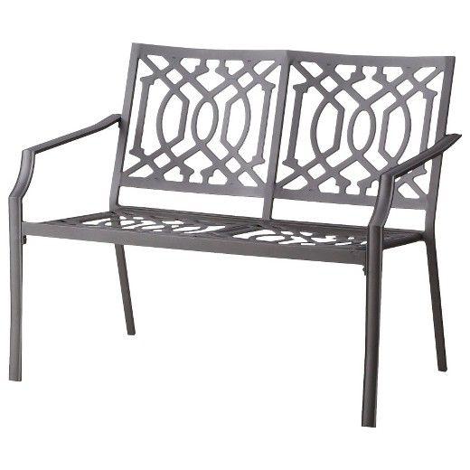 Harper Metal Patio Garden Bench   Threshold