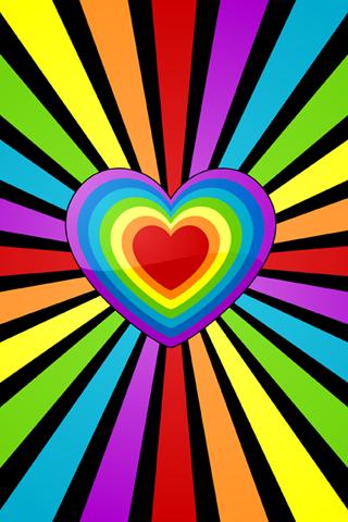 Rainbow Heart Power Rainbow Wallpaper Heart Wallpaper Pop Art
