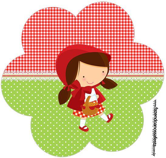 Flor Chapeuzinho Vermelho Caperucita Roja Personalizados