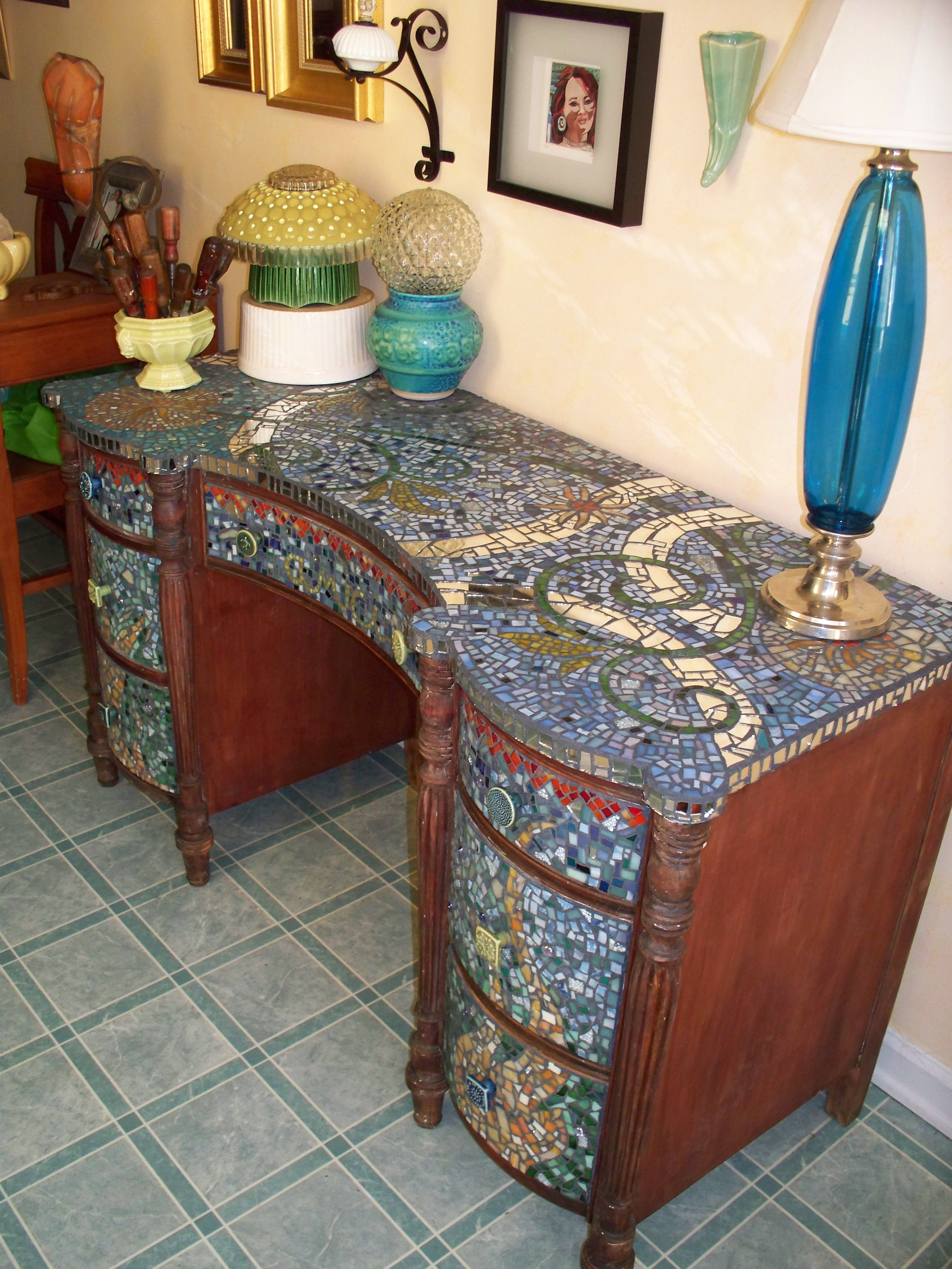 Exceptional Furniture Home Decor Design. Good Mosaic Work Could Be Done On Any Piece Of  Furniture (well, Most Wood Based Furniture, Of Course). What A Beautiful  Idea.