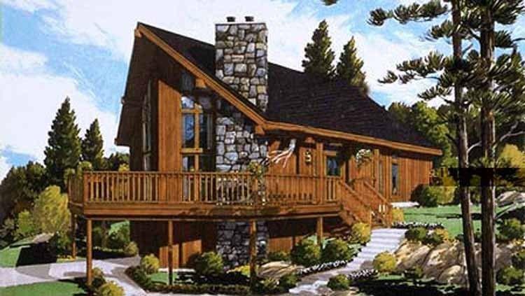 Chalet House Plan With 1468 Square Feet And 3 Bedrooms S From Dream Home Source House Vacation House Plans Modern Style House Plans Contemporary House Plans
