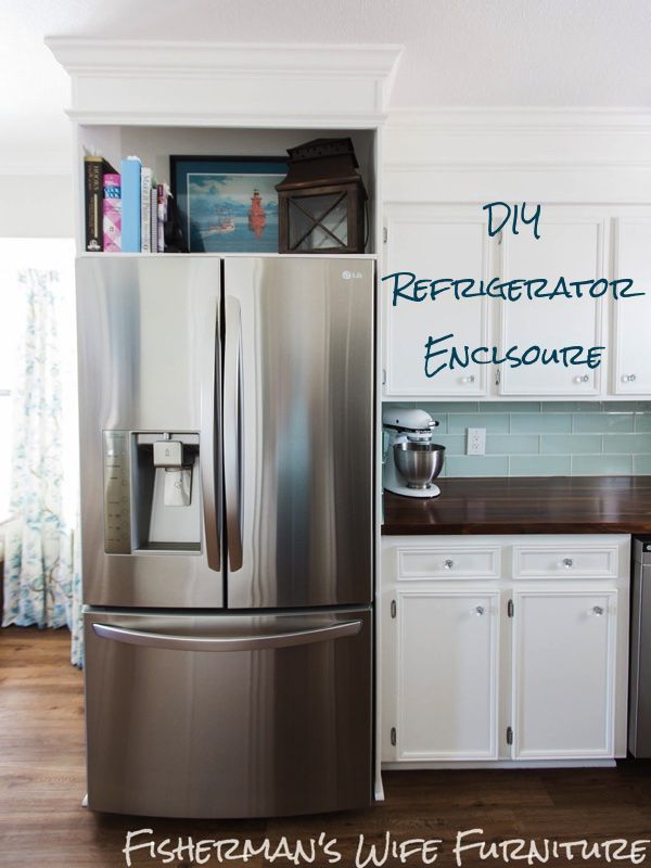 Refrigerator Enclosure Custom look cabinets & a built in for your ...