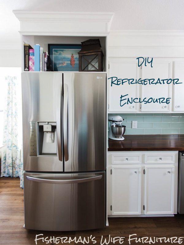 DIY Refrigerator Enclosure Tutorial - www.brianandkaylor.com #DIY ...