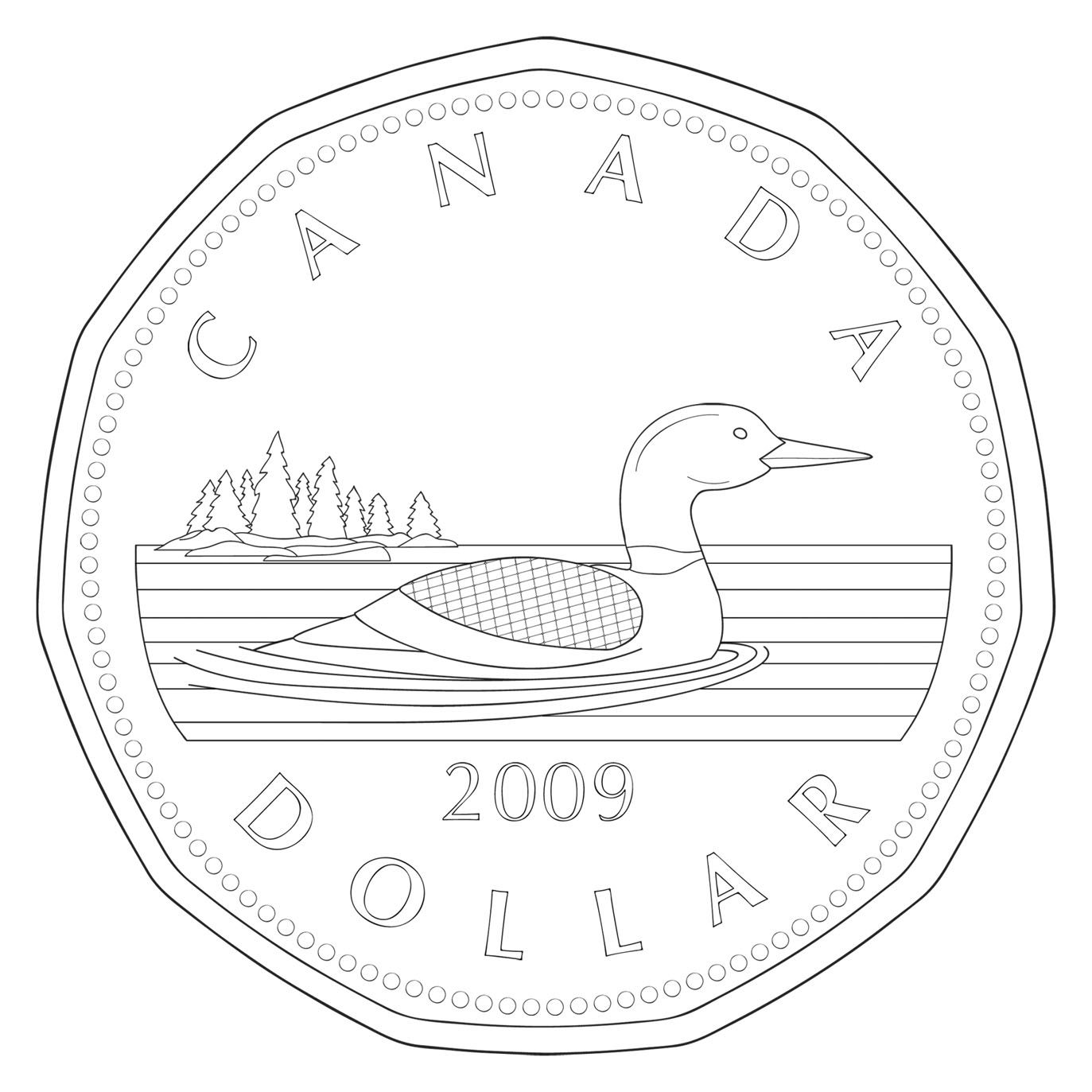 nickel clipart black and white clip art canadian money | Уроки