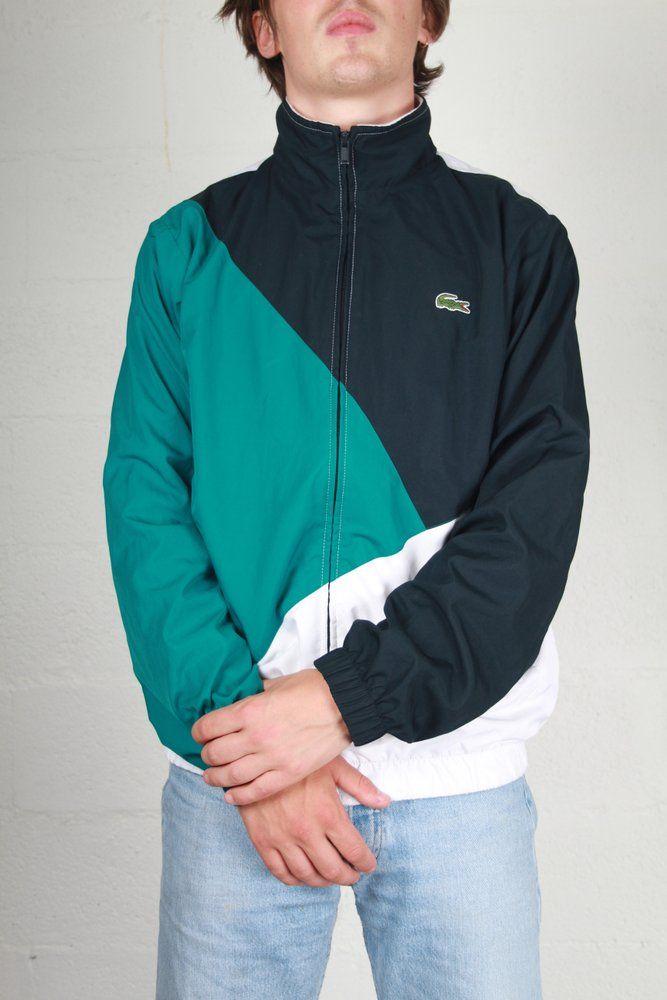 Image Of Veste Lacoste M Vintage Jacket Street Wear Clothing Labels Design