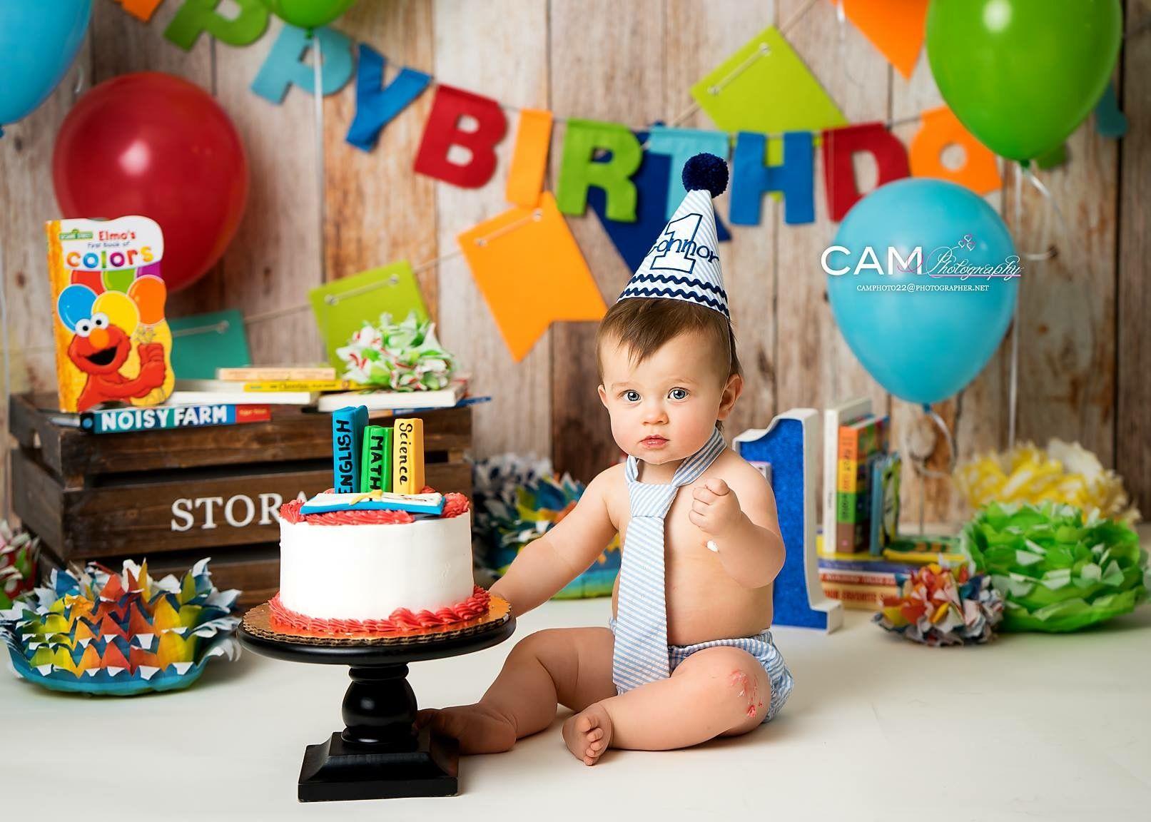 Nerd Smarty Teacher First Birthday Photo Shoot Cake Smash Theme Ideas Messy One Nj Photographer 1st