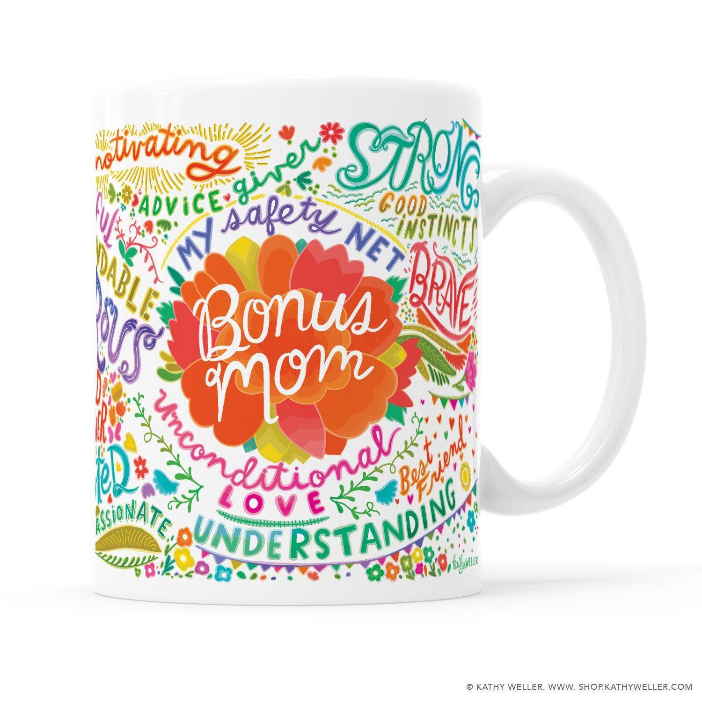 Bonus mom gift best mom ever second mom mug bonus mom mug