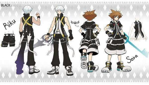 Riku and Sora in Riku\'s clothing colors Kingdom Hearts | Kingdom ...