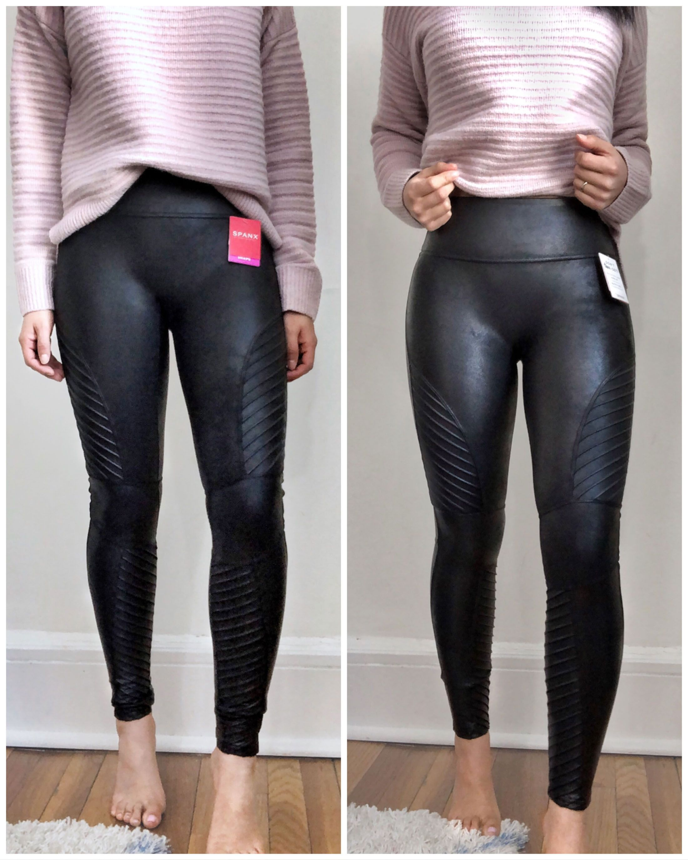 Are Spanx Leggings Worth The Hype Spanx Leather Leggings