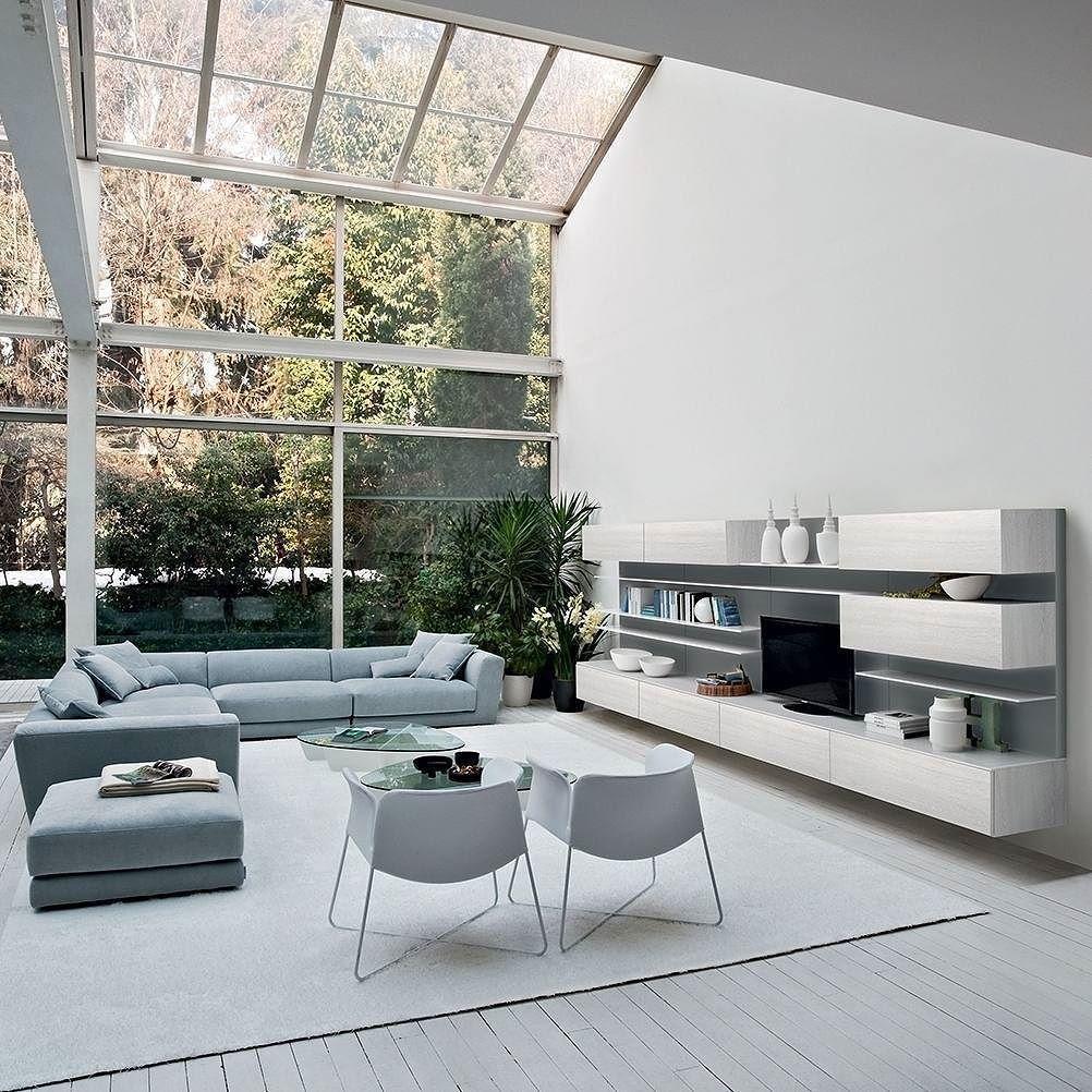 Die Modernen Wohnzimmermbel Von Novamobili Aus Italien In Zarten Farben Modern Minimallistisch Minimalism Wohnzimmer Mbel Livingroom Furniture